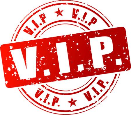 Vector illustratie van rode vip stempel pictogram