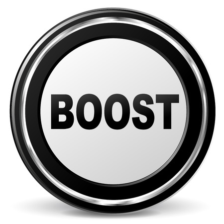 illustration of black and chrome boost icon