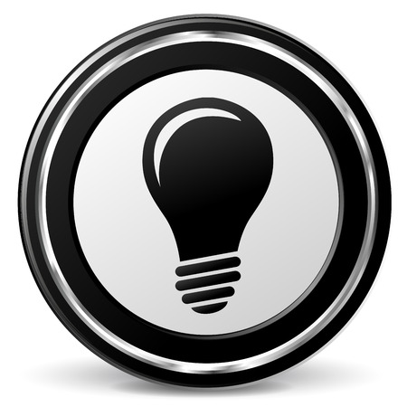 alu: illustration of black and chrome lightbulb icon