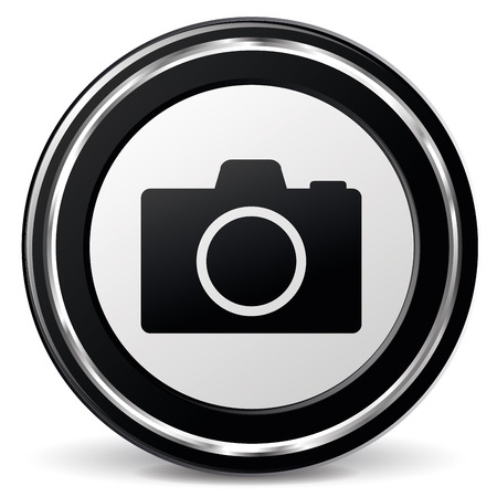 alu: illustration of black and chrome camera icon