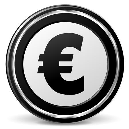 illustration of black and chrome euro icon Illustration