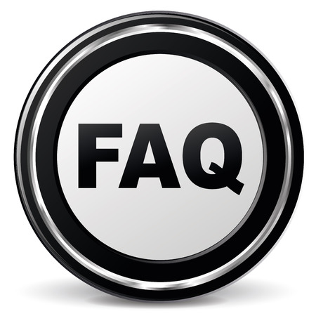 alu: illustration of black and chrome faq icon
