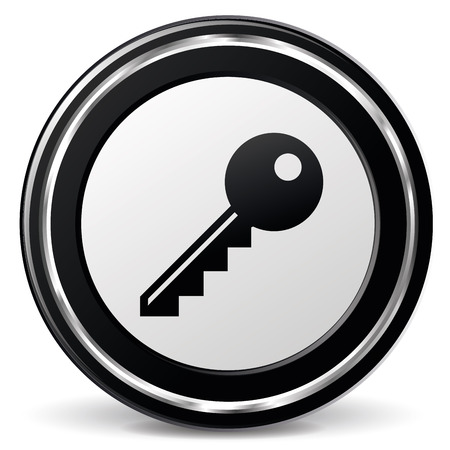 alu: illustration of black and chrome key icon Illustration
