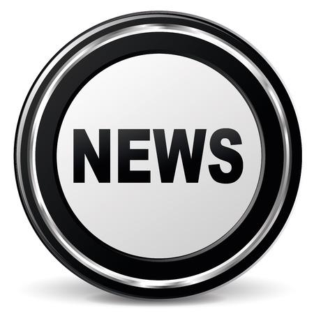 illustration of black and chrome news icon