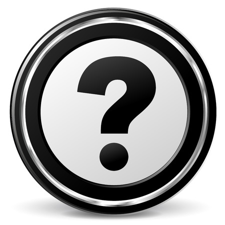alu: illustration of black and chrome questions icon