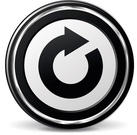 alu: illustration of black and chrome refresh icon