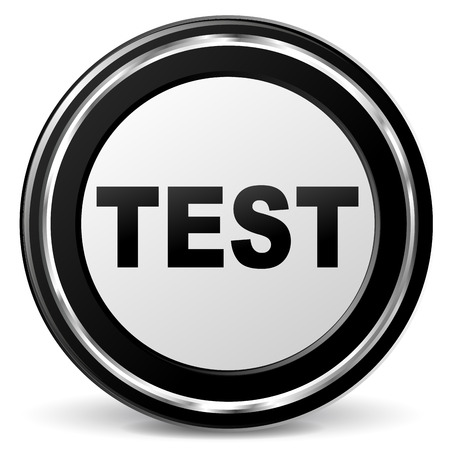 illustration of black and chrome test icon