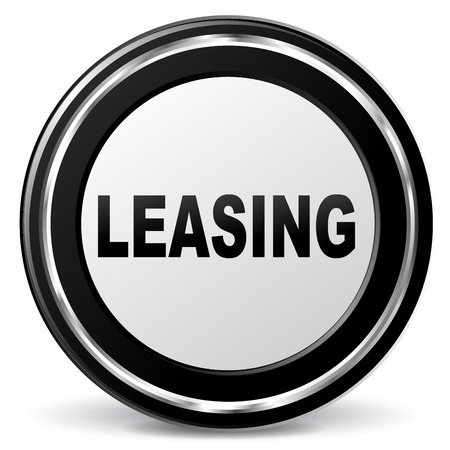 leasing: Vector illustration of black and chrome leasing icon Illustration