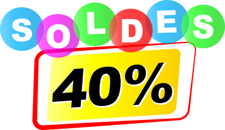 forty: Vector illustration of forty percent sale icon on white background Illustration