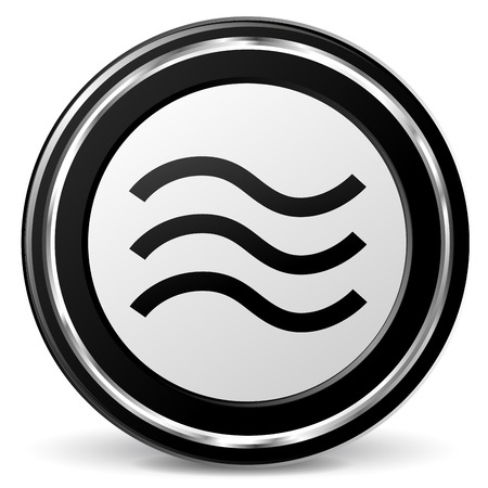 alu: Vector illustration of black and chrome flood icon