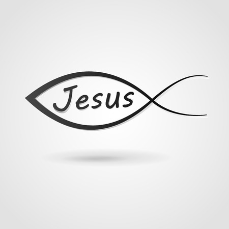 ictus: Vector illustration of jesus fish background concept