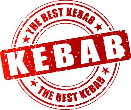 Vector illustration of best kebab red stamp concept 일러스트