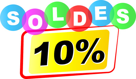 discount tag: Vector illustration of ten percent sale icon on white background