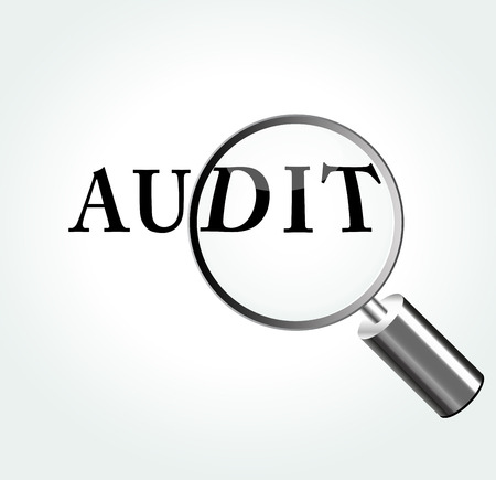 irs: Vector illustration of audit concept with magnifying Illustration