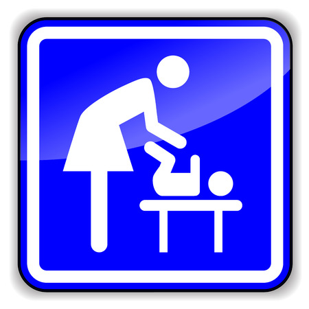 changing room: Vector illustration of baby changing icon on white background Illustration