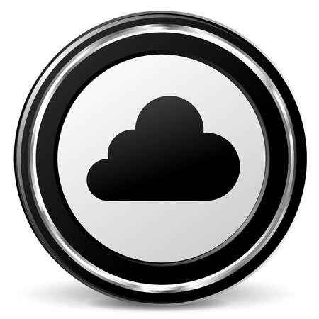 Vector illustration of chrome and black cloud icon