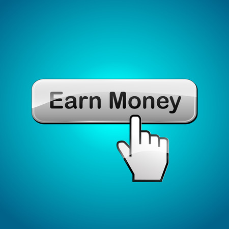 earn money: Vector illustration of earn money abstract concept background