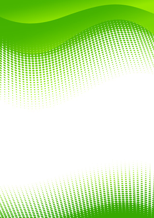 a5: Vector illustration of green abstract vertical background