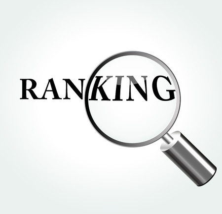 Vector illustration of ranking concept with magnifying Vector