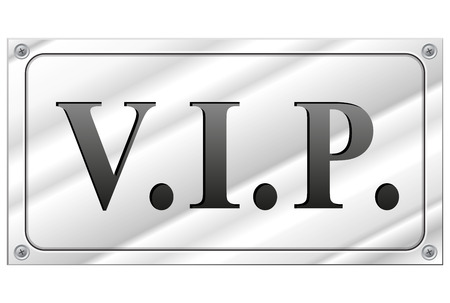 alu: Vector illustration of rectangular vip sign on white background