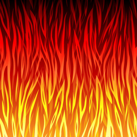 Vector illustration of fire background abstract concept Illustration