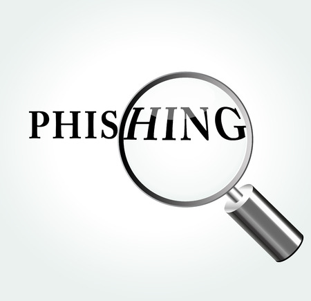 phishing: Vector illustration of phishing concept with magnifying