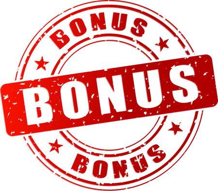 Vector illustration of red bonus stamp icon Vettoriali
