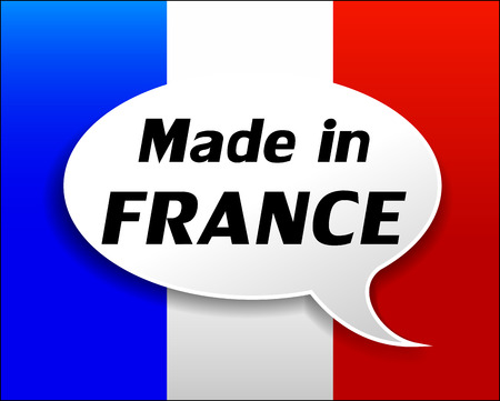 Vector illustration of made in france icon on white background Vector