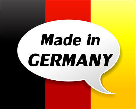 Vector illustration of made in germany icon on white background Vector