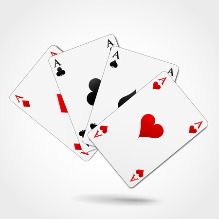 Vector illustration of four aces playing cards Vector