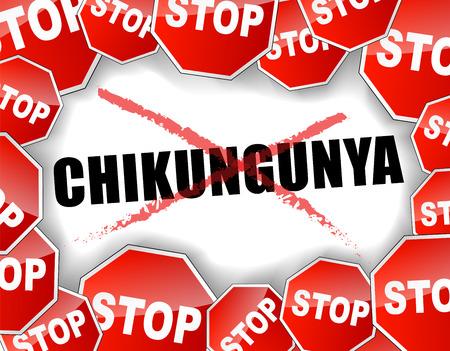 Vector illustration of stop chikungunya epidemic concept Vector