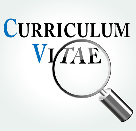 sought: Vector illustration of curriculum vitae concept with magnifying Illustration