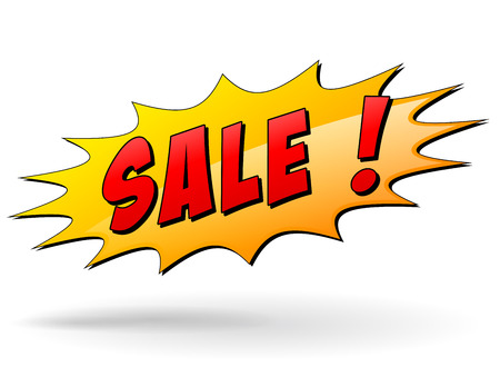 Vector illustration of sale starburst icon on white background