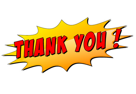 Vector illustration of thank you star icon