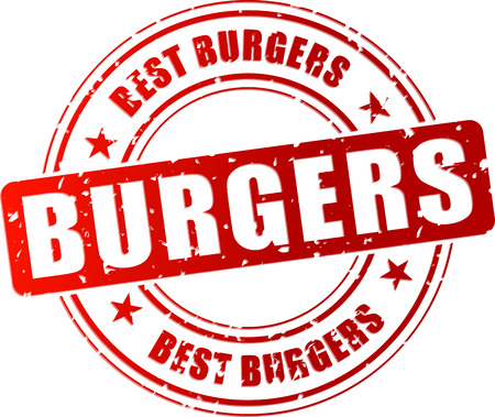 Vector illustration of best burgers stamp icon Vector