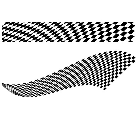 Ilustración vectorial de los elementos de tablero de ajedrez de fondo negro