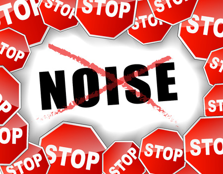 loud noise: Vector illustration of stop noise concept background