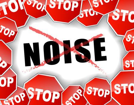 Vector illustration of stop noise concept background Banco de Imagens - 30288816