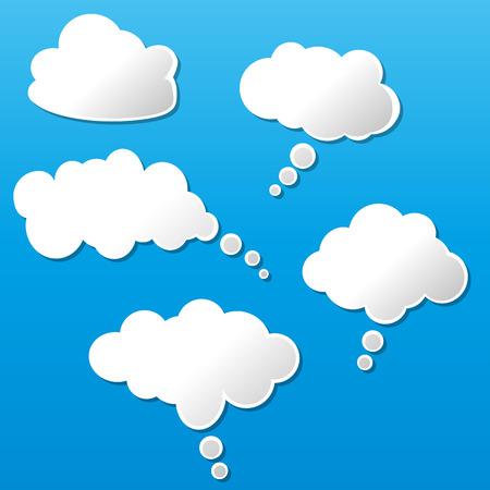 ร   ร   ร   ร  ร ยข  white clouds: illustration of white clouds on blue background