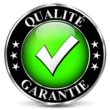 French translation for quality guarantee vector icon