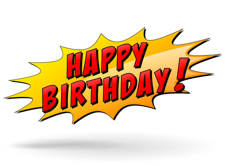 text cool: Vector illustration of happy birthday star icon Illustration
