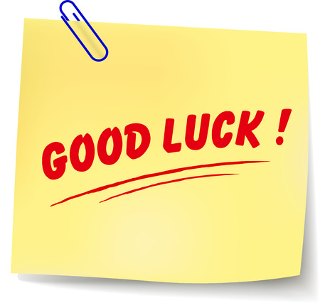 Vector illustration of good luck paper message on white background Vector