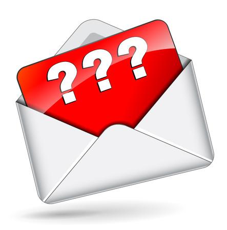 interrogative: Ilustraci�n vectorial de correo interrogativa icono concepto