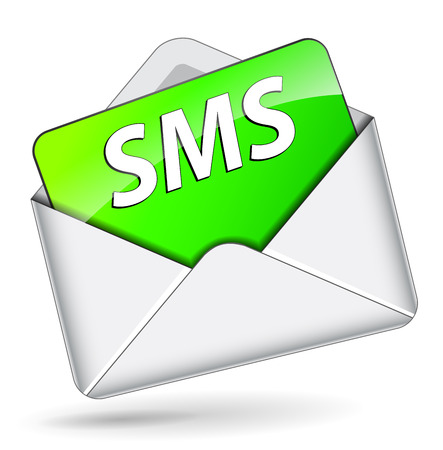 Vector illustration of sms mail envelope icon concept Vector