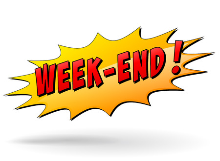 week end: Ilustraci�n vectorial de icono de fin de semana la estrella sobre fondo blanco