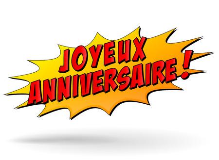 Franse vertaling van gelukkige verjaardag ster pictogram