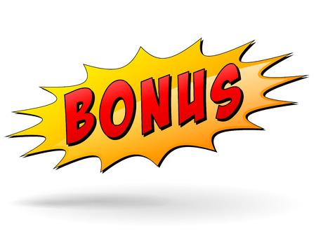 Vector illustratie van de bonus starburst pictogram op een witte achtergrond Stock Illustratie
