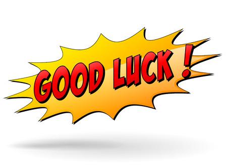 buena suerte: Ilustración del vector del icono de la buena suerte starburst en el fondo blanco Vectores