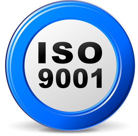 Vector Illustration Of Iso 9001 Certification Icon Royalty Free ...