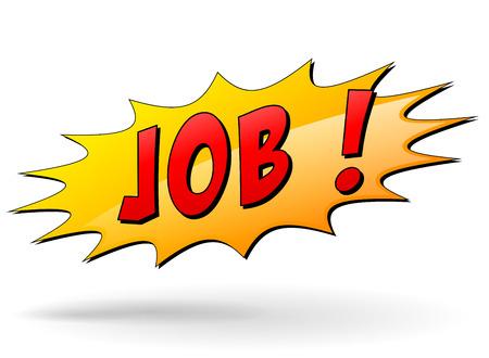 Vector illustration of job starburst icon on white background Vector
